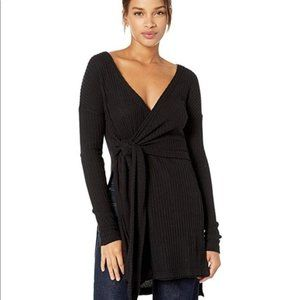NWT Free People Fall For You Ribbed  Wrap Tunic